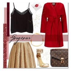 """""""Holiday Party"""" by laurajanekatriina ❤ liked on Polyvore featuring Creatures of the Wind, Phase Eight, MANGO, Marni, BCBGMAXAZRIA and Louis Vuitton"""
