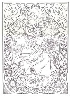 Free Coloring pages printables Make your world more colorful with free printable coloring pages from italks. Our free coloring pages for adults and kids. Disney Coloring Pages, Coloring Book Pages, Printable Coloring Pages, Coloring Pages For Kids, Coloring Sheets, Kids Coloring, Colorful Pictures, Beauty And The Beast, Drawings