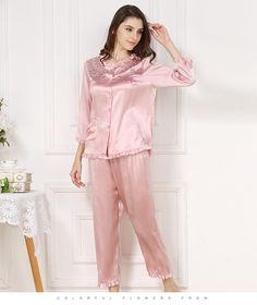 67bacad36e Women s Silk Nightgown   Robe Set 2 PCs  S841. Satin Pajamas