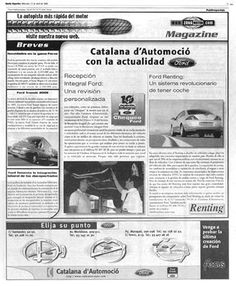 Advertorial - ZonaMotor.  Section dedicated to talk about car news and some advertisements about the same subject. Barcelona, Spain.