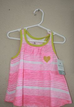 Carter's Tank  2T ,Summer,100%Cotton,Multi-color,Sleeveless,everyday,Striped #Carters #Everyday