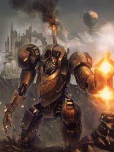 Steam-rhino warrior by AITUARMANAS on DeviantArt