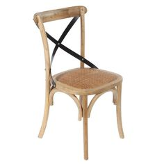 WOODEN CHAIR BISTRO IN ANTIQUE BROWN 45X42X88 - Chairs - FURNITURE