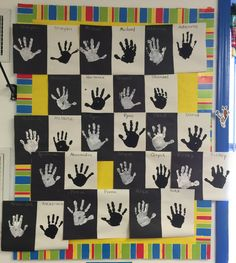 Opposites hand prints preschool Craft Activities For Toddlers, Preschool Arts And Crafts, Fall Preschool, Preschool Literacy, Preschool Lesson Plans, Toddler Learning Activities, Preschool Themes, Kindergarten Activities, Opposites For Kids