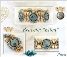 Schéma collier Joya avec Arcos et Minos Beaded Jewelry Patterns, Bracelet Patterns, Beading Patterns, Beading Projects, Beading Tutorials, Beading Ideas, Seed Bead Bracelets, Bracelet Tutorial, Bead Weaving