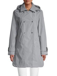 Novelti Double-Breasted Raincoat   TheBay