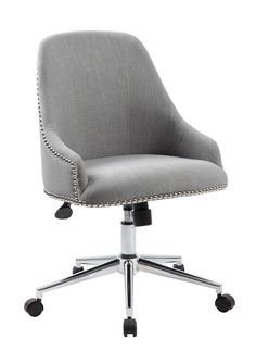 Lowest price on Boss Office Products Carnegie Gray Desk Chair in Chrome Finish B516C-GY. Shop today!