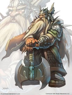 Dwarf king by el-grimlock Fantasy Dwarf, Fantasy Rpg, Medieval Fantasy, Fantasy Artwork, Character Concept, Character Art, Character Design, Concept Art, Fantasy Races