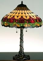 "Meyda Tiffany | 25.5"" Colonial Tulip Table Lamp 99270"