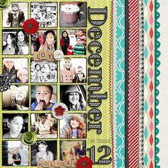 Credit Hipster Holiday by Mommyish Hand Drawn Rectangular Frames by Meredith Fenwick MF Formalish Font by Meredith Fenwick Accordion Folder, Scrapbooking, Scrapbook Layouts, How To Draw Hands, December, Photo Wall, Concept, Cool Stuff, Gallery
