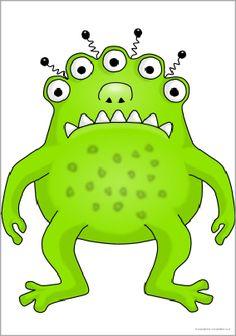 Giant alien monster picture for display (SB9389) - SparkleBox