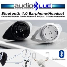 Micro Wireless Bluetooth 4.0 Headset Connect phone/devices-Stereo #MicroMediaSoundTECH