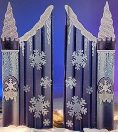 Winter Wonderland Party Entrance North POle Dance Event Snow Entrance Prop