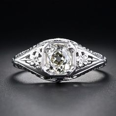 .65 Carat Diamond Solitare - 10-1-4376 - Lang Antiques white gold cushion cut diamond