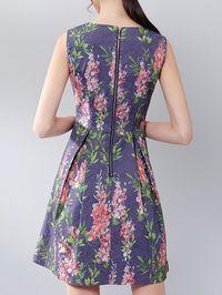 Floral-print Cotton-blend Mini Dress