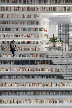 MVRDV have, with the Tianjin Urban Planning and Design Institute (TUPDI), designed Tianjin Binhai Library as part of a larger plan to provide a cultural district for the city. The building acts not only as an education centre but as a connector from. Tianjin, Contemporary Decor, Contemporary Architecture, Architecture Design, Contemporary Shelving, Contemporary Stairs, Contemporary Building, Contemporary Cottage, Architecture Diagrams