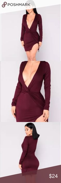 NWT FASHION NOVA Sugar Frenzy DRESS-Eggplant NWT FASHION NOVA Sugar Frenzy DRESS-Eggplant Size XL Fashion Nova Dresses