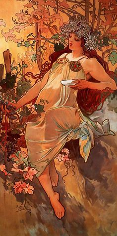 Autumn by Alphonse Mucha