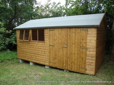 Garden Sheds Ripley deluxe apex 10x7, felt tiled roof, rimlock with handle and