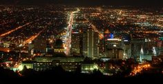 Night lit Skyline of Salt Lake City | www.LikeTheOcean.com