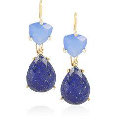 Isharya Libra 18-karat gold-plated drop earrings ($360) ❤ liked on Polyvore