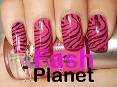 Hot Pink Zebra Print Nails ♥: I'd be all over this if I was to be bothered wit. - Hot Pink Zebra Print Nails ♥: I'd be all over this if I was to be bothered with getting Acrylic -