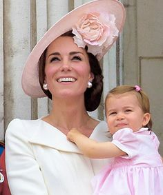 The Cambridges in the balcony of Buckingham Palace as they celebrate Trooping the Colour.