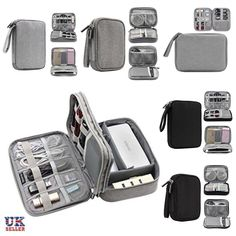Home organization portable electronic accessories cable usb drive organizer bag travel insert case storage bags Travel Accessories For Men, Camera Accessories, Accessories Store, Bag Organization, Bag Storage, Travel Bags, Cool Things To Buy, Gadgets, Iphone