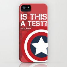Captain America First Avenger - Hard iPhone 3, 3gs, 4, 4s or 5 Case (Original Digital Art). $54.95, via Etsy.