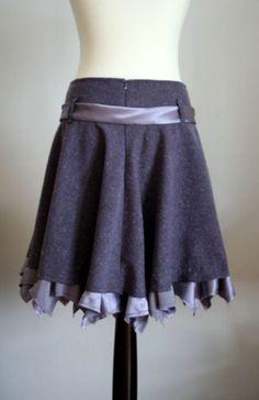 grey and lavender tweed skirt