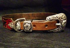 Fancy dog collar for a lucky golden named Bella! www.legacyleatherco.com