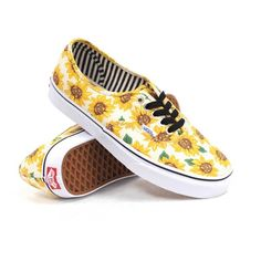 Vans Authentic (Sunflower True White) Women's Shoes ($55) ❤ liked on Polyvore featuring shoes, sneakers, rubber sole shoes, vans footwear, white sneakers, waffle shoes and white lace up shoes