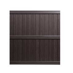 $80. For back and side coverage. Front fence and gate custom made. Keter Springfield 6-ft x 6-ft Brown Flat-Top Privacy Vinyl Fence Panel