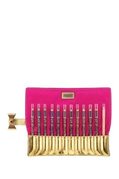 eye opening 12-piece eyeliner set with pouch