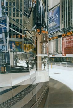 Richard Estes Times Square New York Oil on Canvas 2005