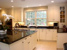 White Kitchen With Granite Countertops Design Ideas, Pictures, Remodel, and Decor - page 2