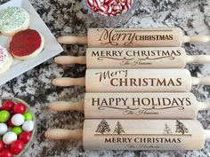 Add some cheer to your kitchen this holiday season with our unique Christmas Rolling Pins.