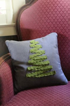 DIY Christmas Tree Pillow