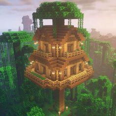 Minecraft Tree, Minecraft House Plans, Cute Minecraft Houses, Minecraft House Designs, Amazing Minecraft, Minecraft Games, Minecraft Blueprints, Minecraft Creations, Minecraft Crafts