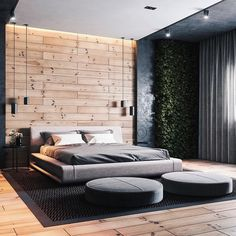 37 Wonderful Luxury Bedroom Design Ideas You Will Love - If you've ever watched Lifestyles of the Rich and Famous, you are familiar with what luxury bedroom decor is. It is defined by it's beauty, material, . Luxury Bedroom Design, Modern Master Bedroom, Master Bedroom Design, Home Decor Bedroom, Decor Interior Design, Bedroom Designs, Diy Bedroom, Wooden Wall Bedroom, Quirky Bedroom