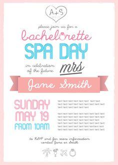 Bachelorette Spa Day Invitation #wedding #hens #bachelorette