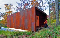 Rusted Steel Studio Design - Envirolet would fit right in :)