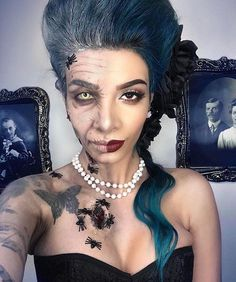 "The Horror Gallery (@thehorrorgallery) on Instagram: ""Female Dorian Gray special effects makeup by @lilmoonchildd"""