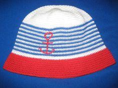 Námořnický - háčkovaný klobouček