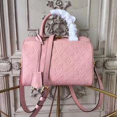 93ea0c1779fe Louis Vuitton Speedy Bandoulière 25 Monogram Empreinte Leather M44069   SpeedyBandoulière25 Pink Louis Vuitton Bag