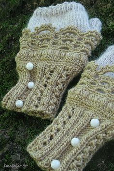fingerless mitts (knit and crochet combo) - FREE pattern from Ravelry - these are some of the nicest I have seen -