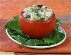 HG crab stuffed tomato