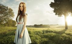 Lady In The Field by Federico Chiesa, via Behance