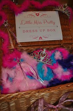 The little ladies love to raid the dress up box once they've been pampered :)