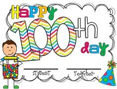 100th Day Award!  100th day mini unit! $2